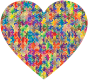 Colorful Puzzle Heart 5