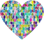Colorful Puzzle Heart 6