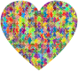 Colorful Puzzle Heart 7