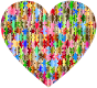 Colorful Puzzle Heart 8