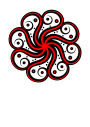 Black-red Abstract Octopus Thumbnail