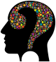 Colorful Question Head Circles 5