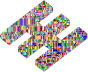 Checkered Chromatic 3D Fabricatorz Logo