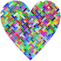 Colorful Heart Lattice Weave