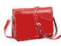 Red Leather Handbag without logo