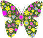 Retro Floral Butterfly 2