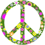 Retro Floral Peace Sign