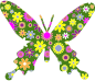 Retro Floral Butterfly 4