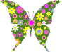 Retro Floral Butterfly 3