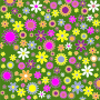 Retro Floral Background Pattern