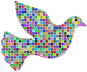 Prismatic Mosaic Peace Dove