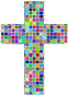 Prismatic Mosaic Cross