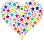 Colorful Heart Stars