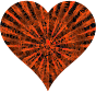 Low Poly Shattered Heart Red