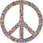 Prismatic Confetti Peace Sign