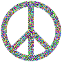 Prismatic Psychedelic Confetti Peace Sign