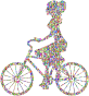 Chromatic Bejeweled Girl On Bike