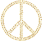 Gold Peace Hearts