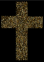 Gold Cross Fractal With Background