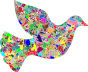 Modern Art Peace Dove