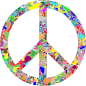 Modern Art Peace Sign