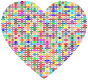 Colorful Pattern Heart