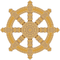 Ornate Dharma Wheel