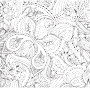 Decorative Floral Butterfly Line Art