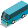 Blue bus (teal)
