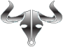 Polished Steel Bull Icon No Background