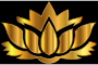 Gold Lotus Flower Silhouette