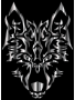 Steel Symmetric Tribal Wolf
