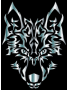 Silver Symmetric Tribal Wolf