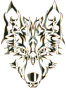 Polished Obsidian Symmetric Tribal Wolf No Background