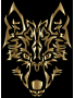 Polished Copper Symmetric Tribal Wolf