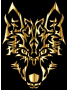 Gold Symmetric Tribal Wolf
