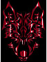 Crimson Symmetric Tribal Wolf