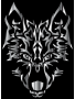 Chrome Symmetric Tribal Wolf