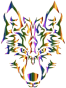 Chromatic Symmetric Tribal Wolf No Background