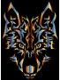 Chromatic Symmetric Tribal Wolf 2