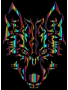 Chromatic Symmetric Tribal Wolf 3