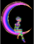 Chromatic Fairy Sitting On Crescent Moon Enhanced 2