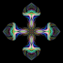 Prismatic Hearts Cross