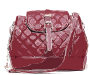 Red Patterned Leather Bag
