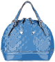 Blue Patterned Leather Handbag without logo