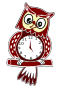 Animated Owl Clock
