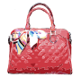 Red Leather Bag with Ribbon