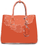 Orange Flat Leather Bag