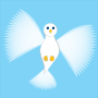 Flying Dove Blue background