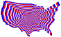 Red White And Blue US Map Outline Zoom
